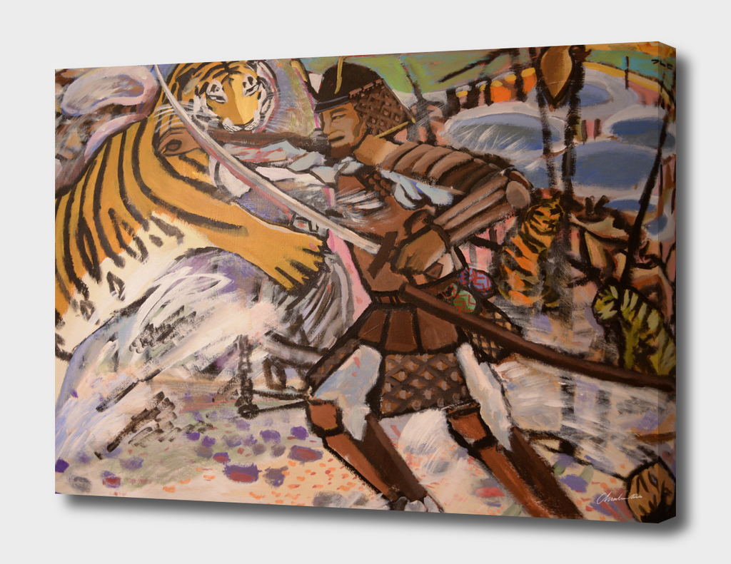 Korean Tiger Fights The Japanese Samurai