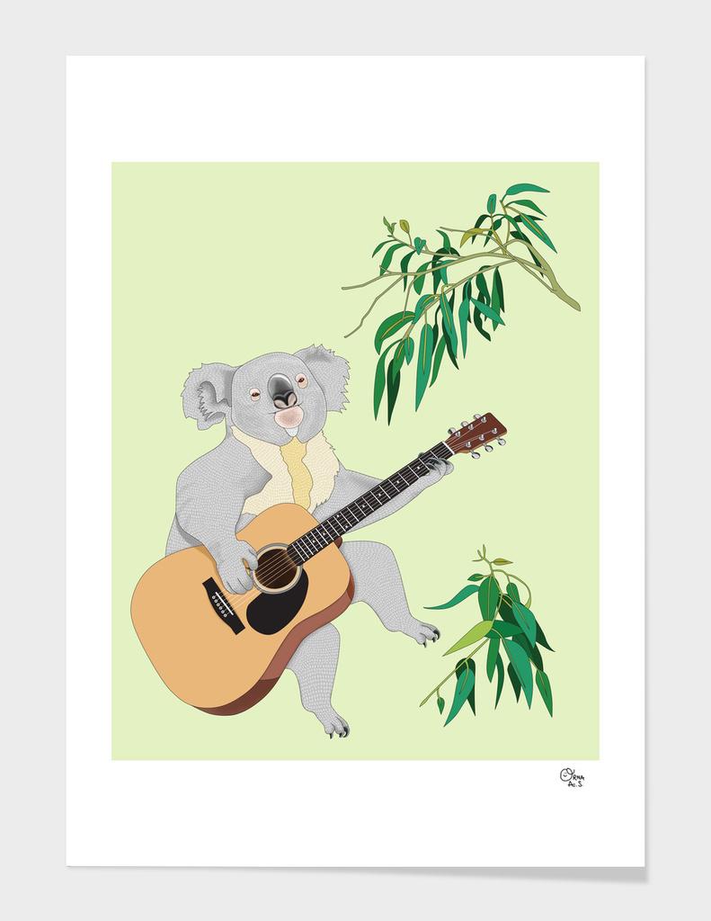 Koala Playing Guitar