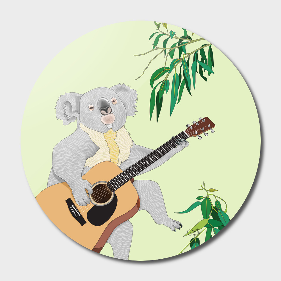 Koala Playing Guitar