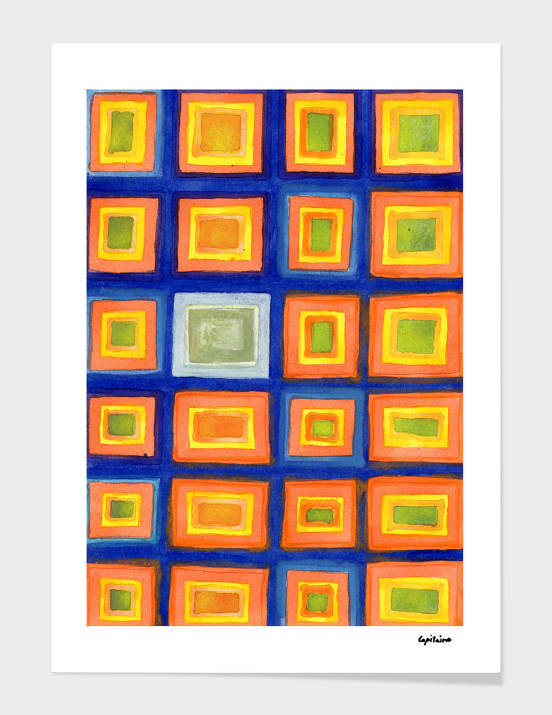 Square Pattern Beaming with Luminous Color