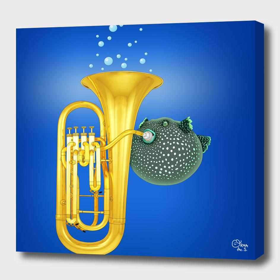 Puffer Fish Playing Tuba