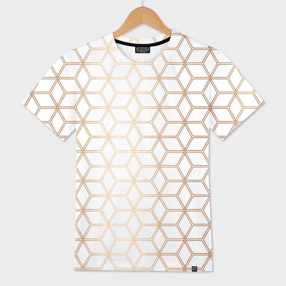 Geometric Hive Mind Pattern - Rose Gold #113