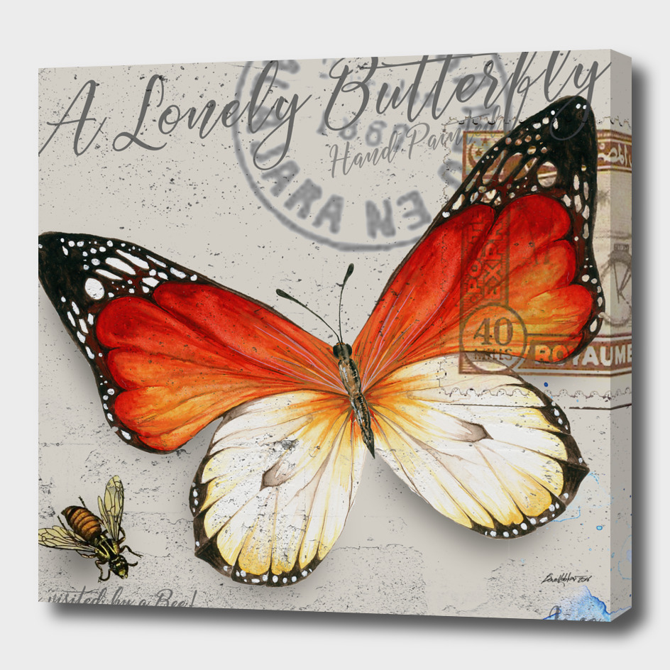 Lonely Butterfly Orange