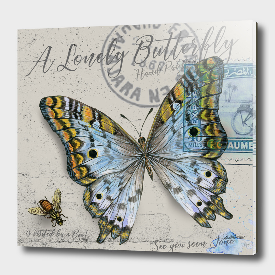 Lonely Butterfly Blue