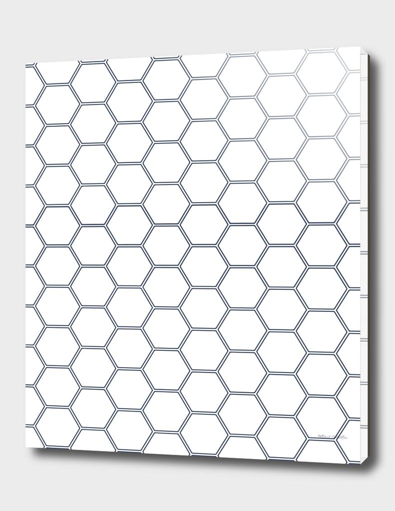 Geometric Honeycomb Pattern - Navy #278