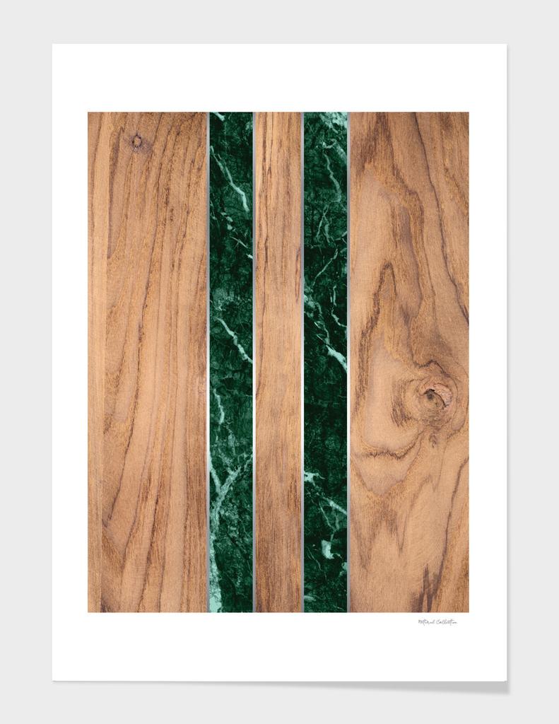 Striped Wood Grain Design - Green Granite #901