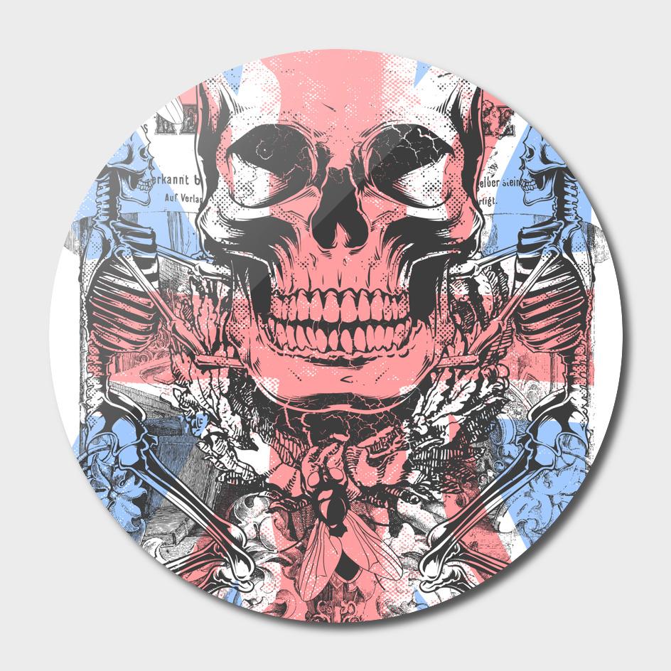 english flag skull
