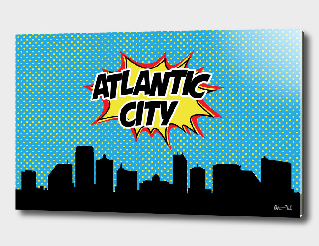 Atlantic City Pop Skyline