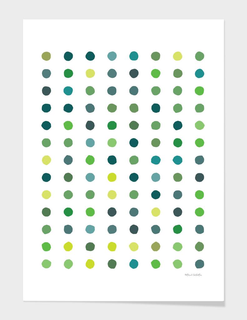 Circular Dalmatian Spots - Grass #171