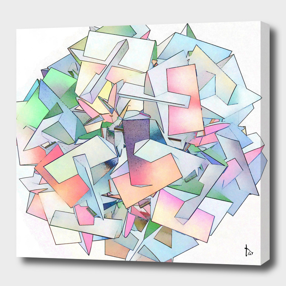 Rainbow Cube Abstract Geometric