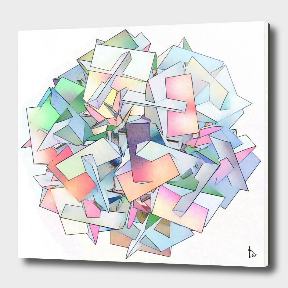 Rainbow Cube Abstract Geometric