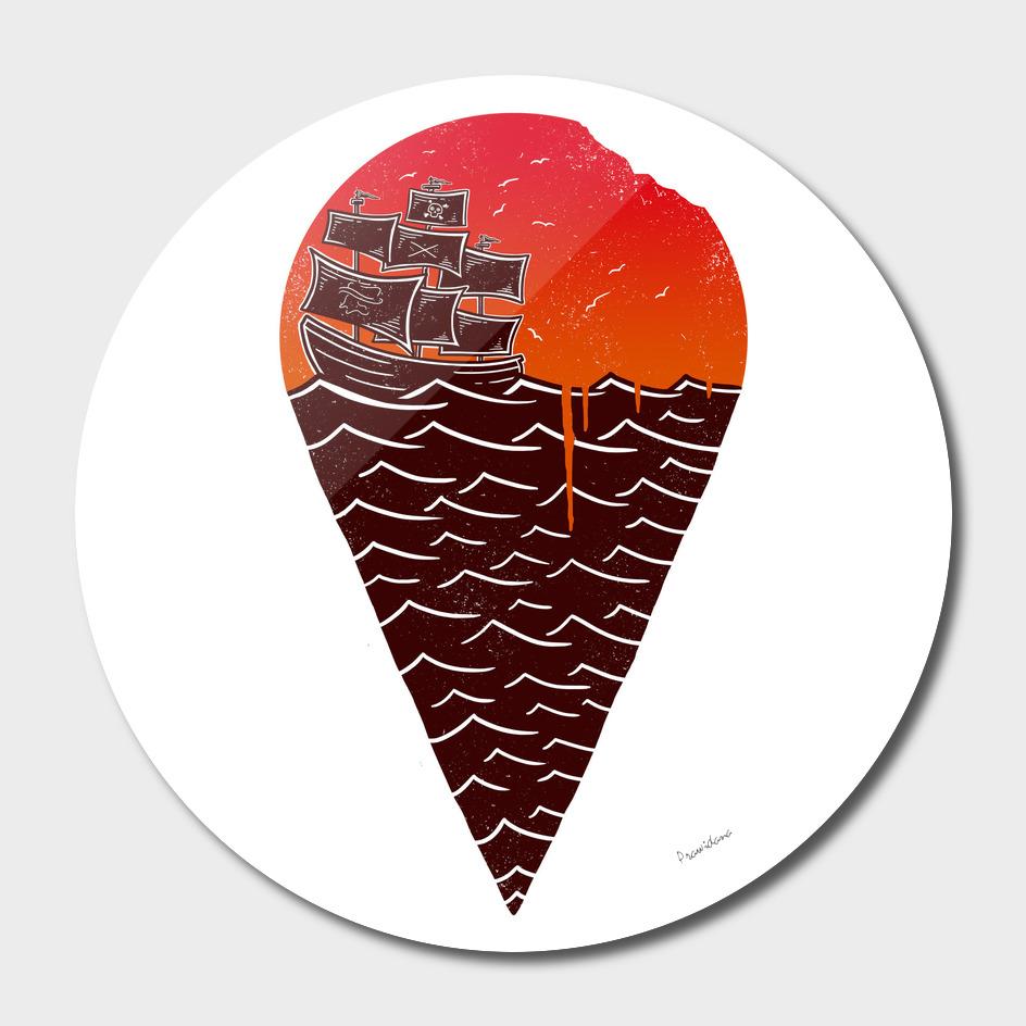 Sunset ice cream