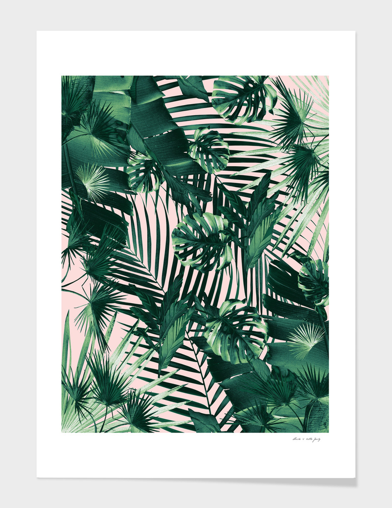 Tropical Jungle Leaves Siesta #1 #tropical #decor #art