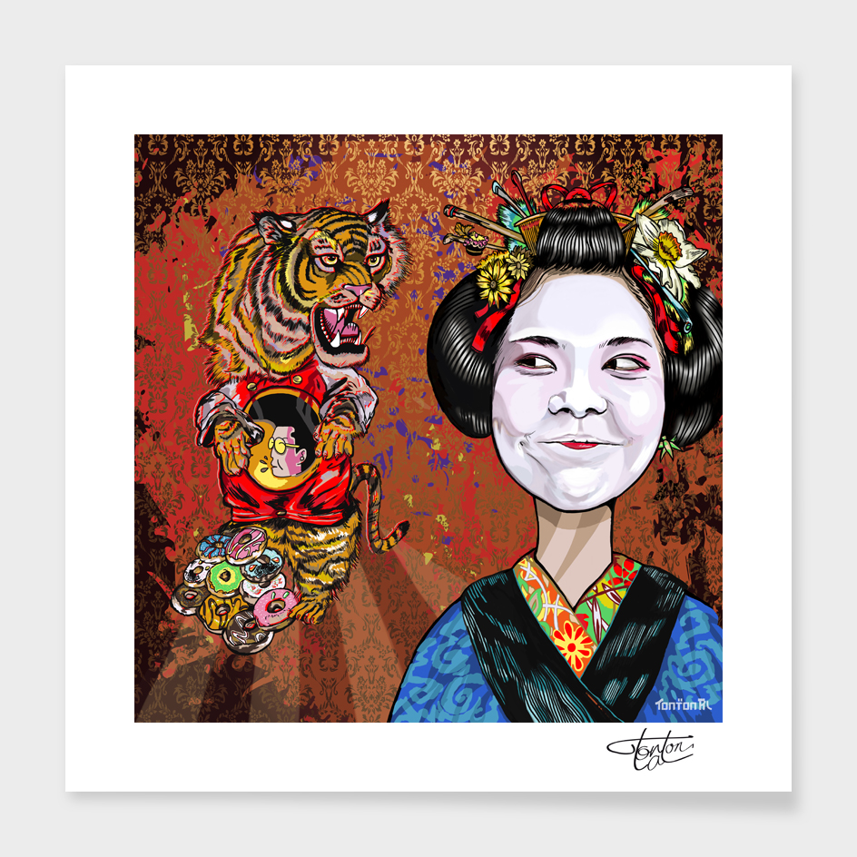 Geisha Vs Tiger