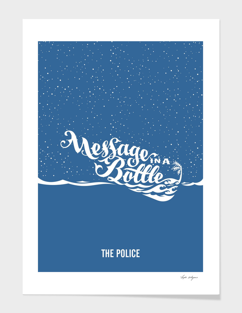 message in a bottle - the police
