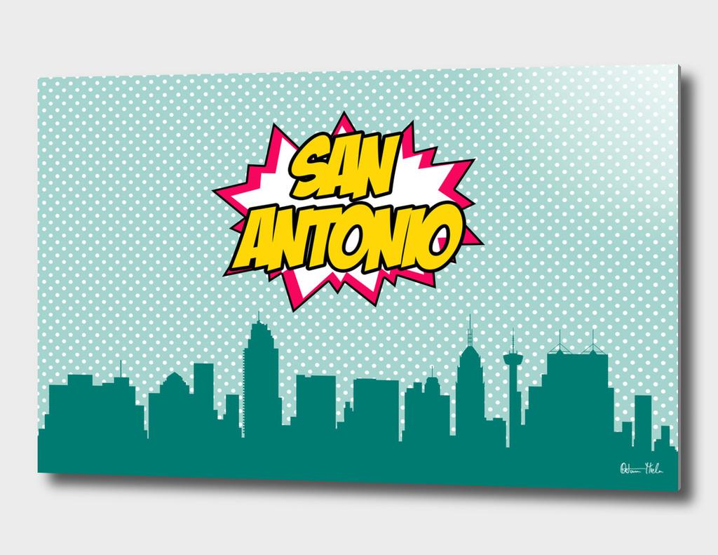 San Antonio Pop Skyline