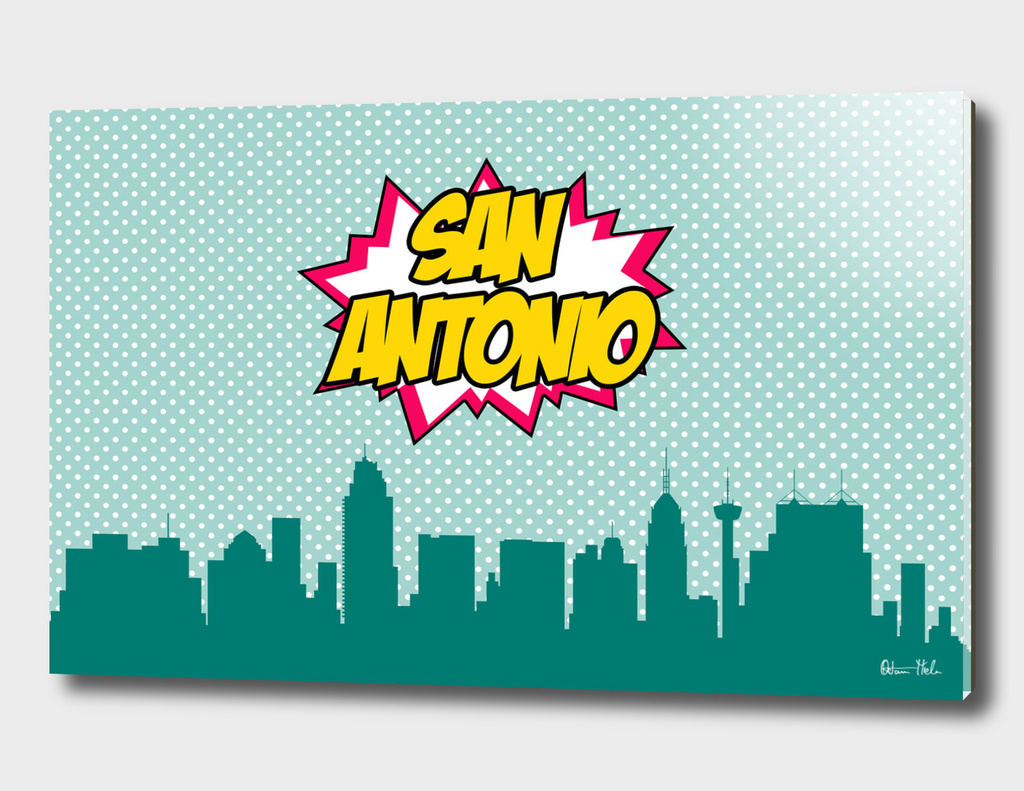 San Antonio Pop Skyline