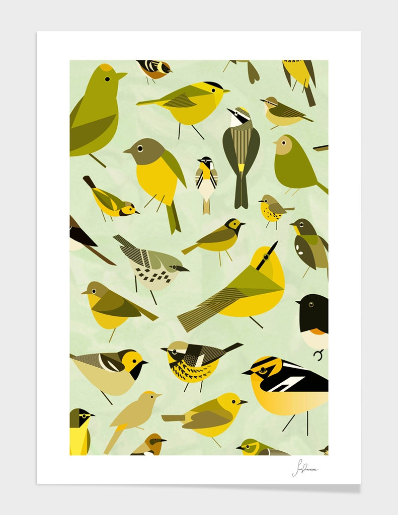 warbler window yellow
