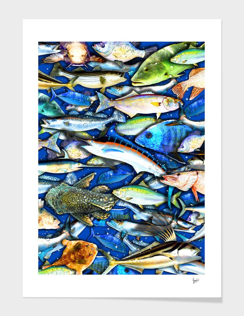 Deep Saltwater Fishing Collage