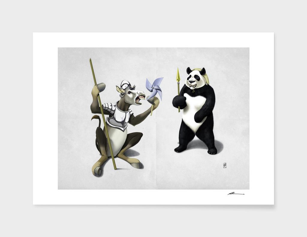 Donkey Xote and Sancho Panda (Wordless)
