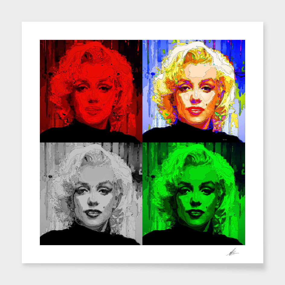 Marilyn Quad Pop Art