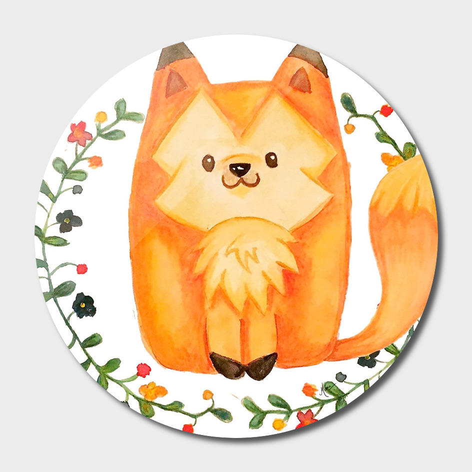Red Fox and Little Flowers