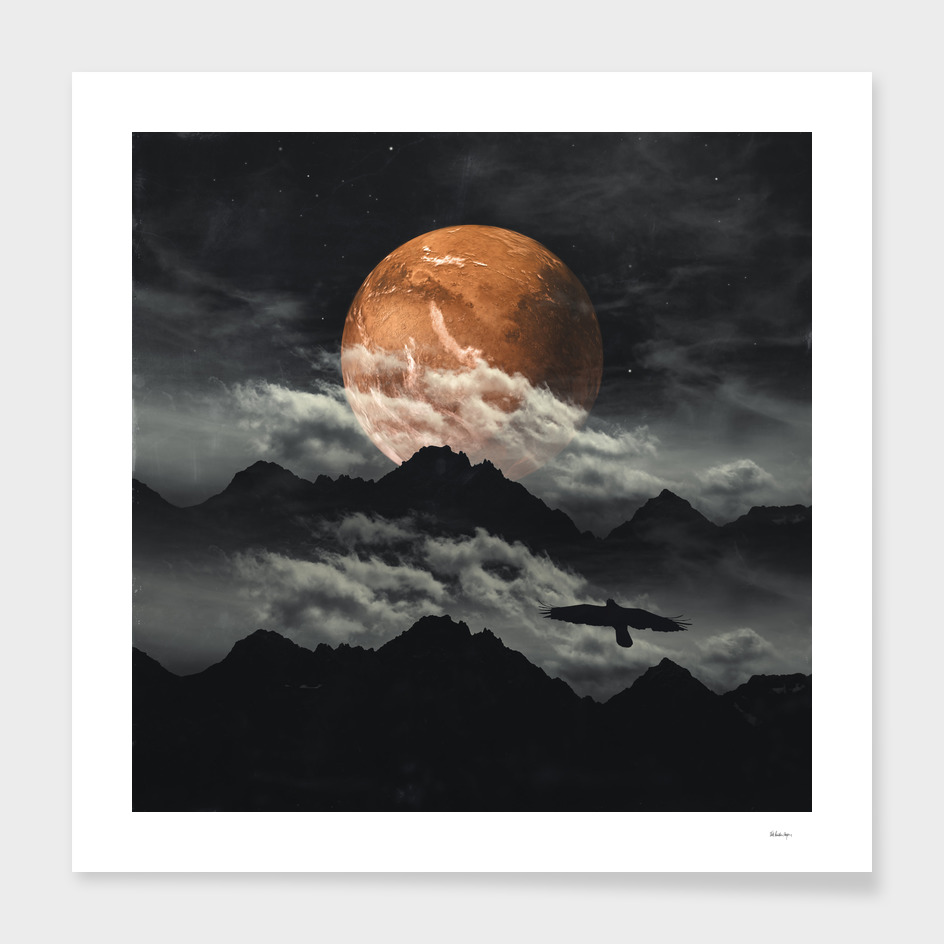 spaces III - mars above mountains