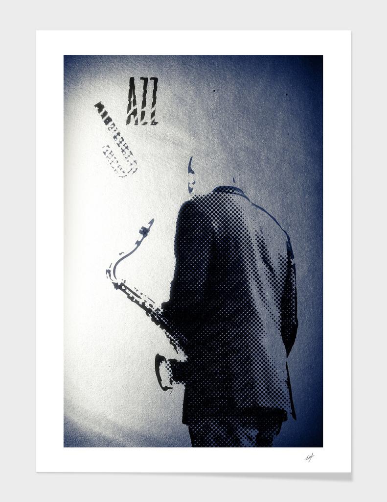 Saxophonist. Jazz Club Poster