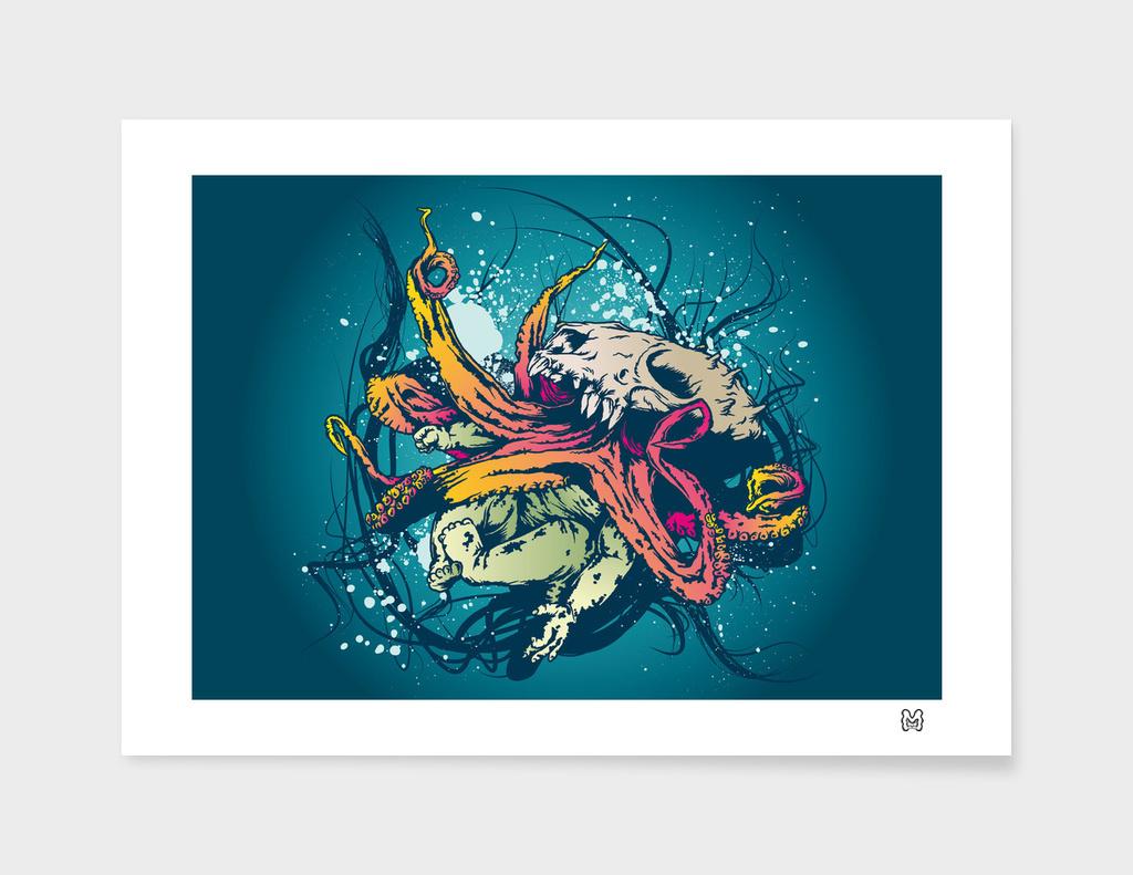 Octopus SKull Baby Creature