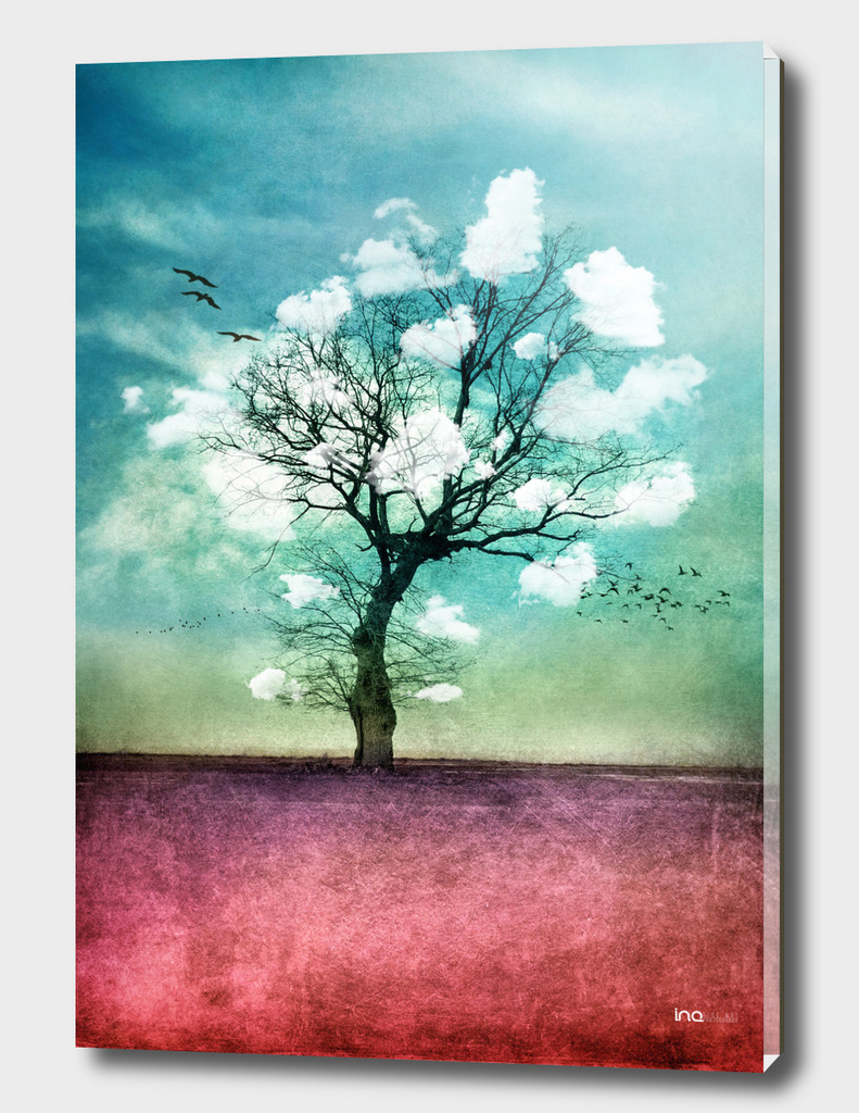 Atmospheric Tree with Clouds