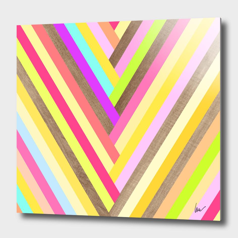 Lollipop Wood Stripes