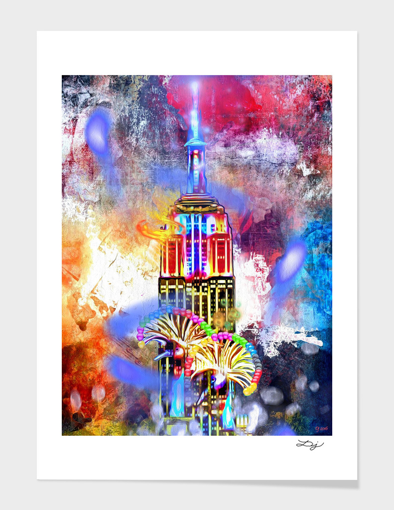Empire State Building Painted