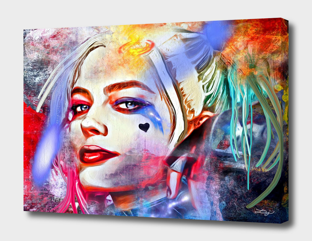 Harley Quinn Painted