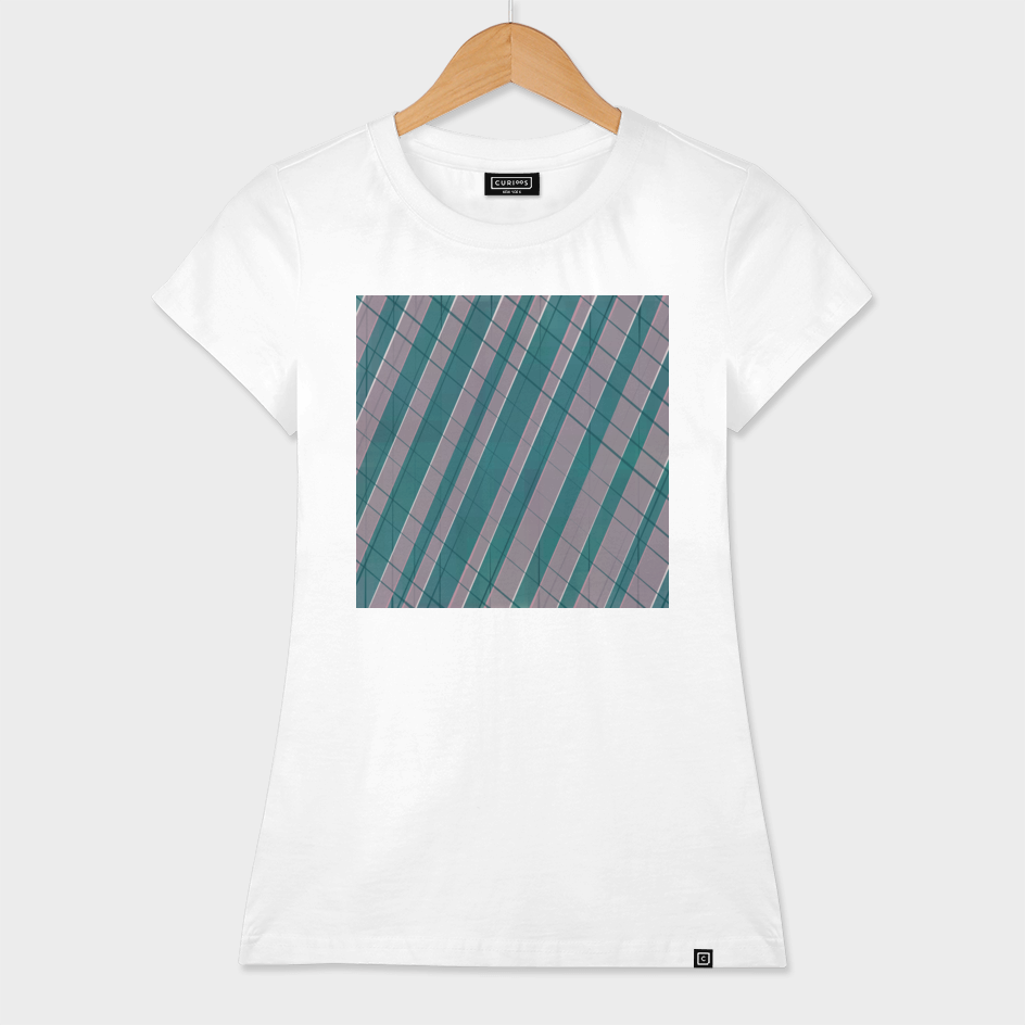 Graphic stripes in rose lilac teal