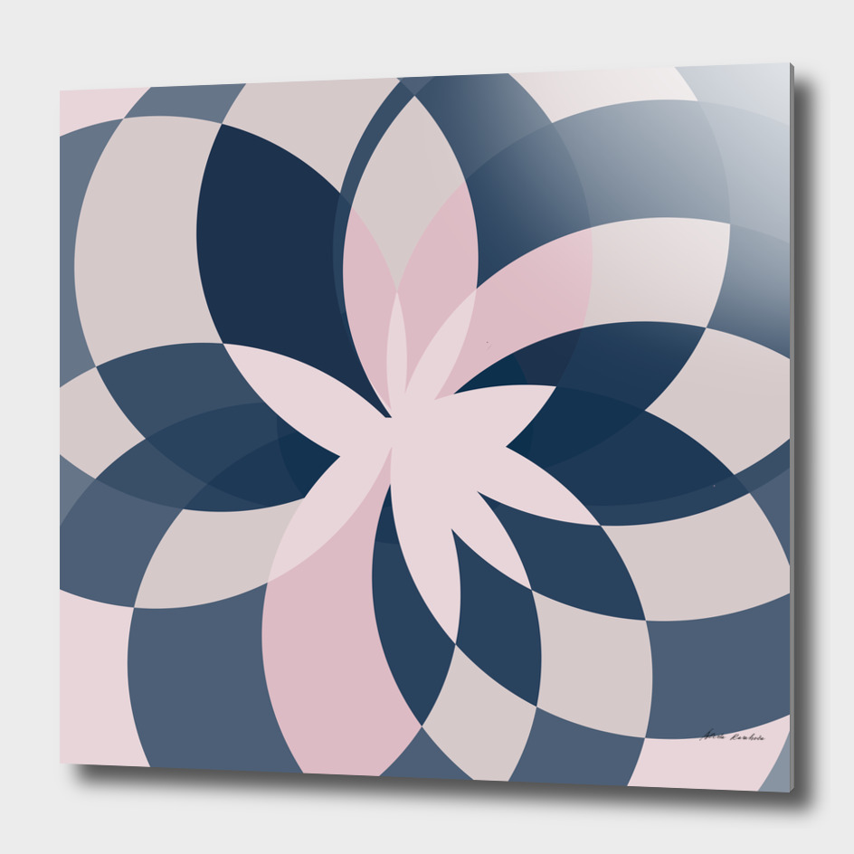 Rose Blue Bloom Graphic