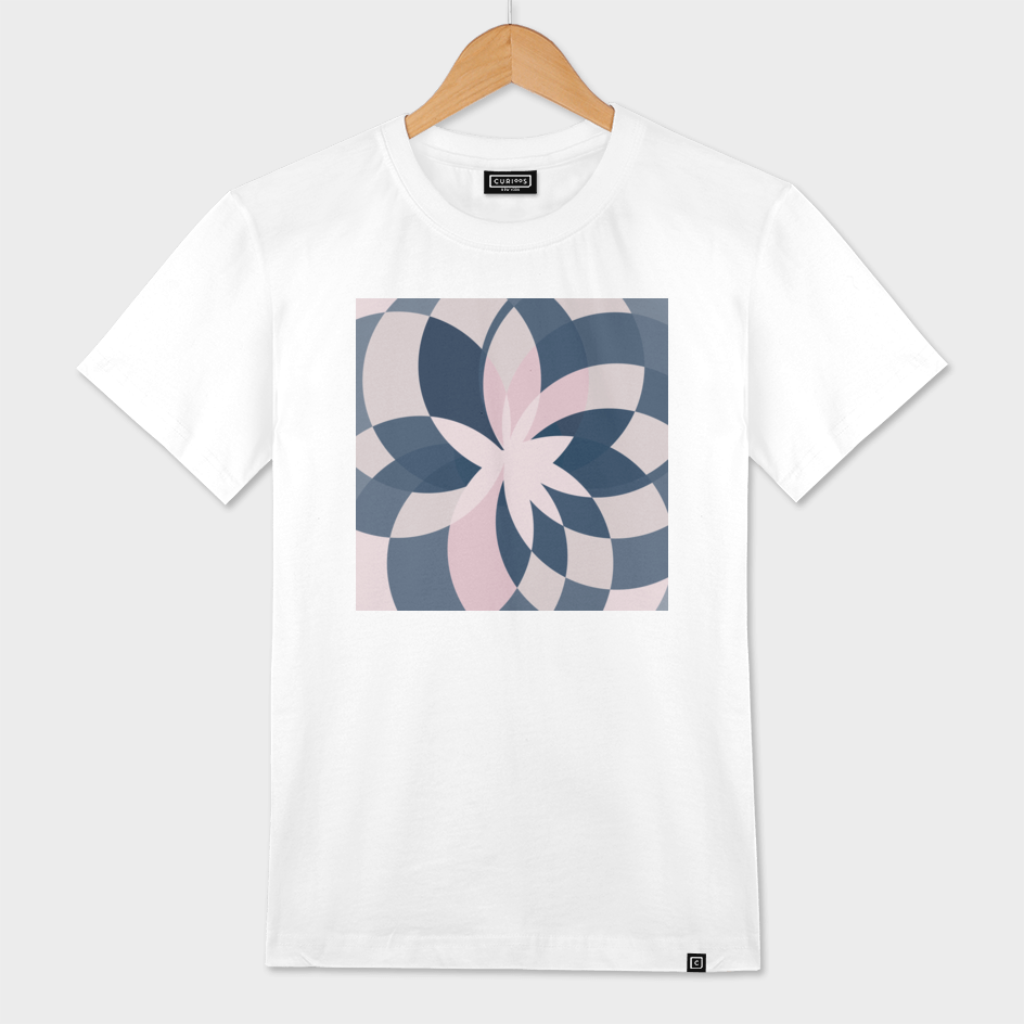 Rose Blue Bloom Graphic