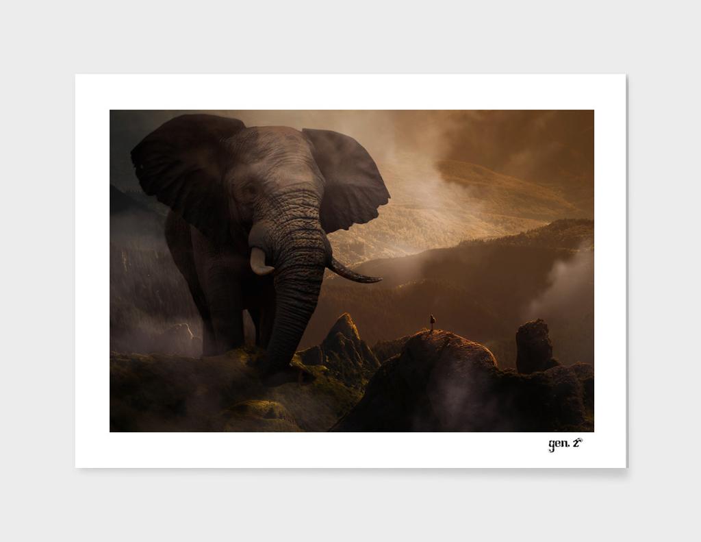 The famous giant elephant by GEN Z
