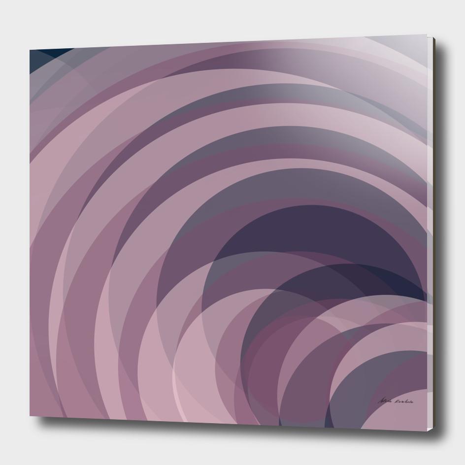 Blush Purple and Blue IX