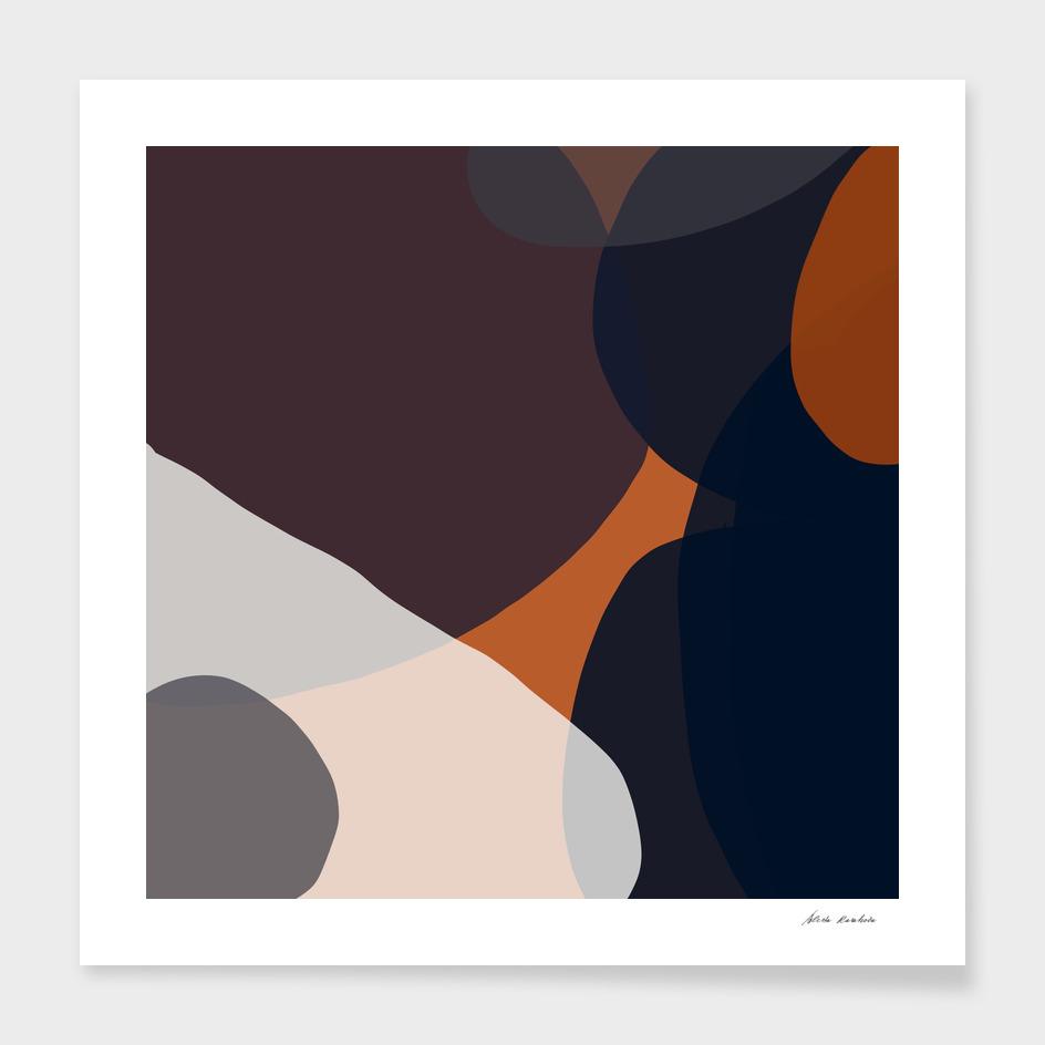 Navy & Rust Abstract V