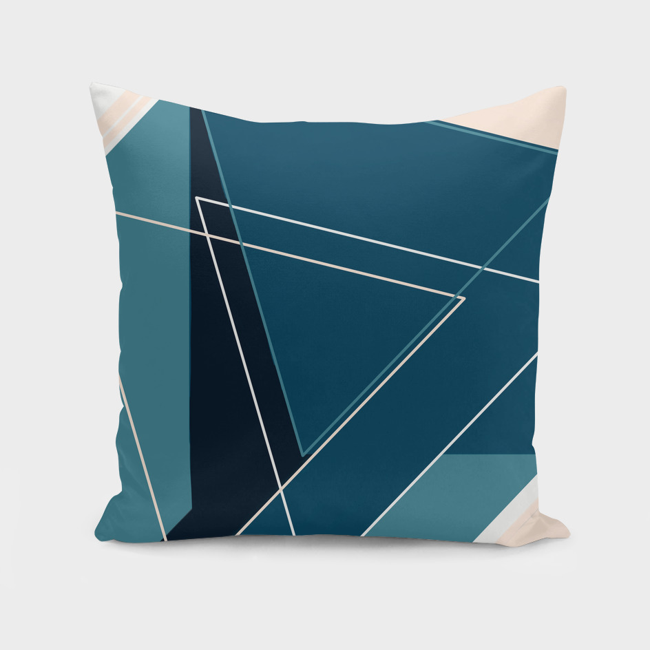 Blue & Neutral Geometrical