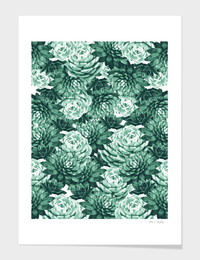 Succulents Pattern #1 #GreenVibes #decor #art