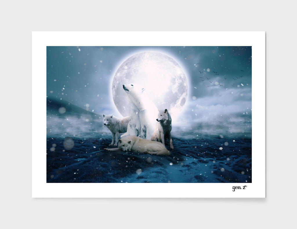 Wolves and the polar bear by GEN Z