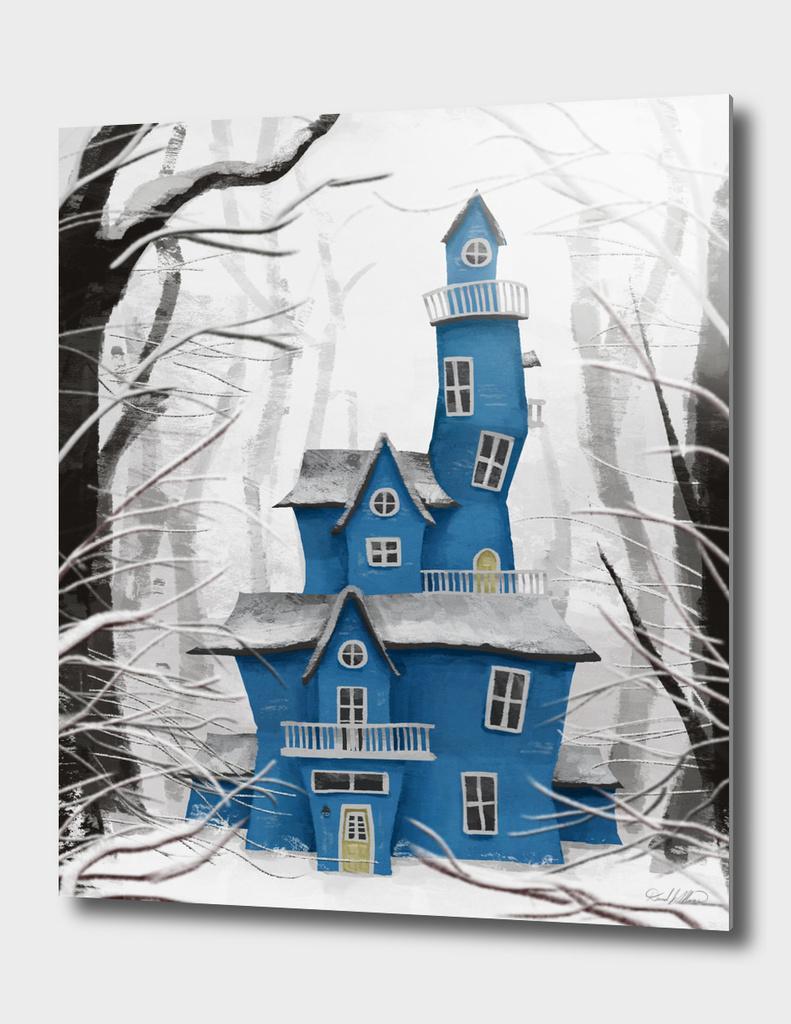 Snowy Blue Mansion