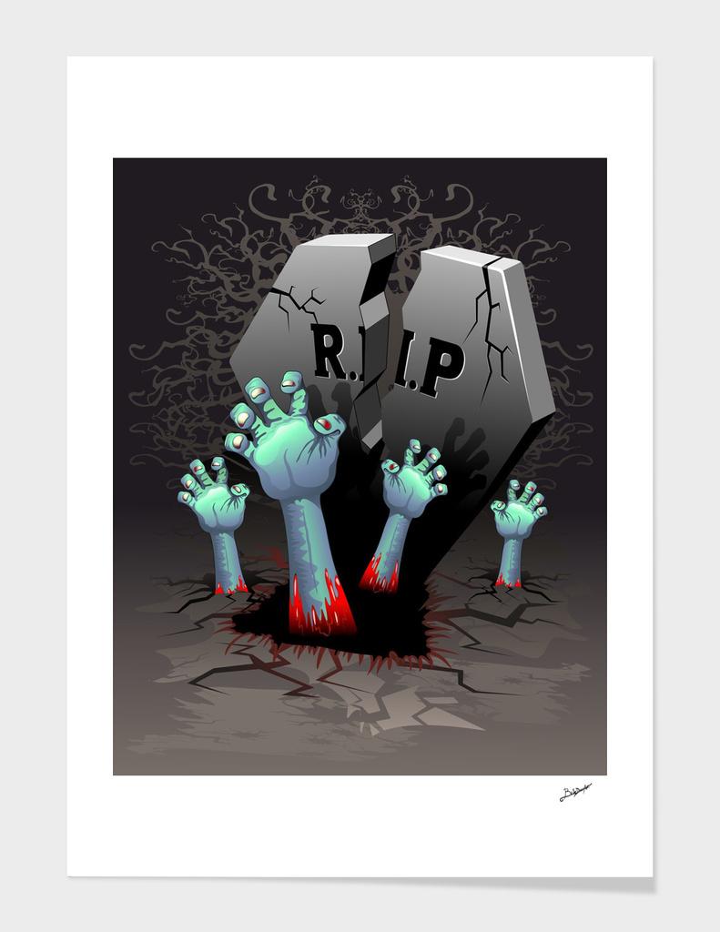 Zombie Hands on Cemetery