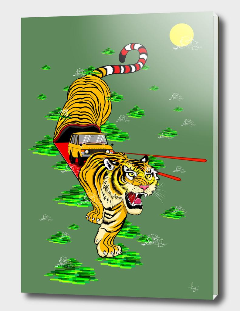 Tiger & Car