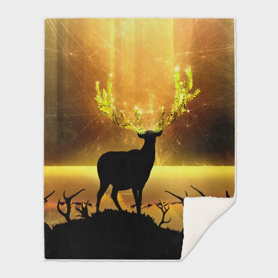 Greenery Deer - Golden Sun