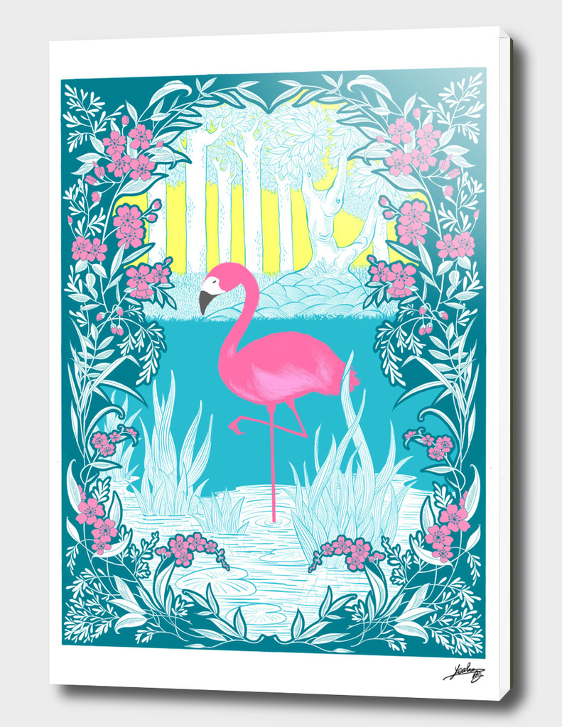 The Pink Flamingo No.1 - Blue Edition
