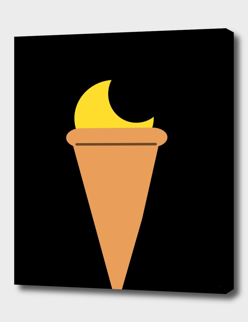 Ice cream moon
