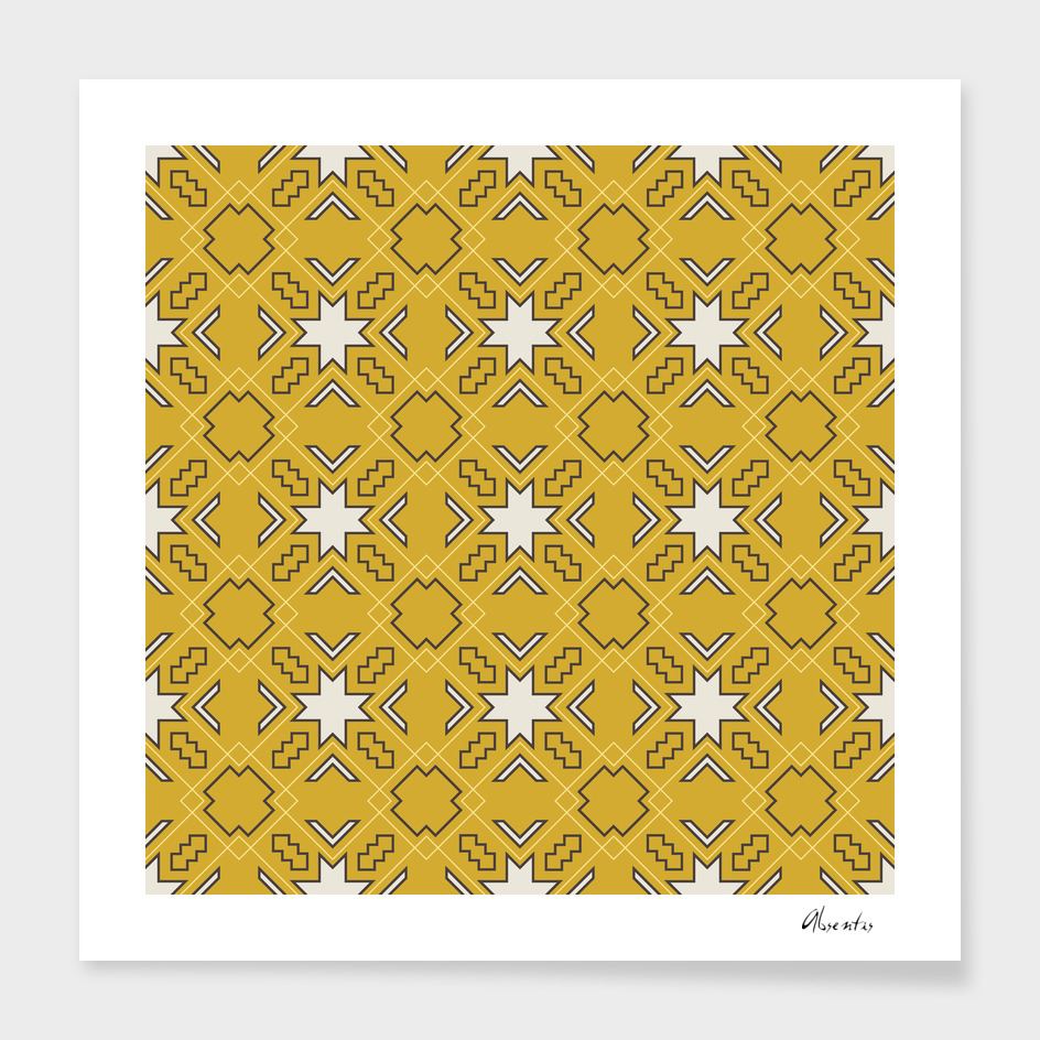 Ethnic pattern in yellow