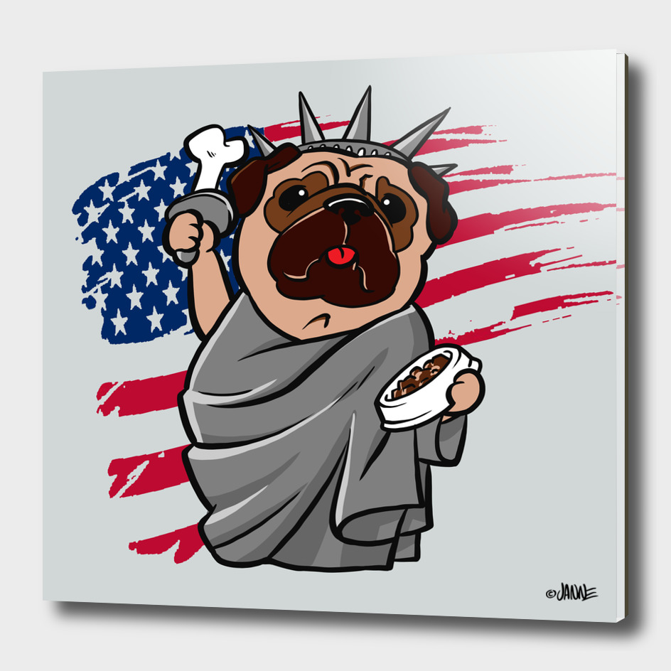 4th-of-july-pug